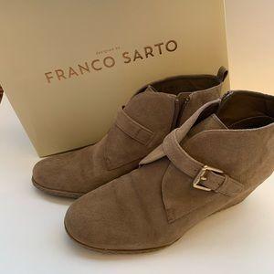 Franco Sarto Suede Wedge Bootie